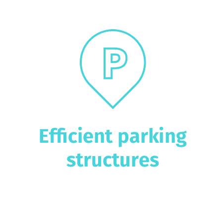 Efficient parking structures